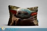 Мини подушка 40*30 [ односторонняя ] - «Mandalorian - Yoda Child» tape 1