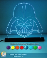 Великий діодний акриловий світильник «Star wars - Vader»