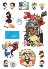 Стикеры Ghibli Tape 01