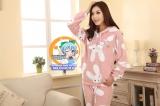 Пижама из флиса модель Cute Pink Rabbit