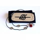 Косплей набор Наруто Итачи (повязка, кольцо, кулон) / Naruto