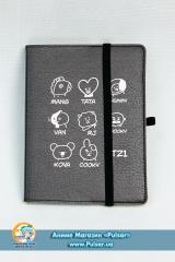 Скетчбук з обкладинкою з Еко Шкіри «BTS» tape 03