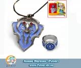 Кулон World of Warcraft - Blue Hope ( Набор кольцо + кулон)