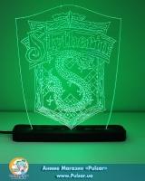 Дiодний Акриловий світильник «Harry Potter» tape Slytherin