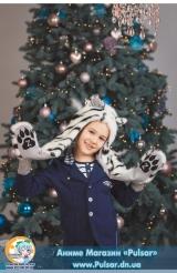 Зверошапка (SpiritHood) модель White tiger UA ( Белый тигр )