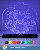Великий діодний акриловий світильник «Naruto»