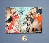 Большой скетчбук А4 (альбом)  «Haikyu!!» Ver. 01