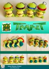 """М`яка іграшка Amigurumi """"Черепашки Ніндзя"""" (Ручна Робота)"""
