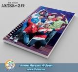 Скетчбук ( sketchbook) на пружине 80 листов BTS tape 12