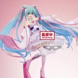 Оригинальная аниме фигурка «Banpresto Hatsune Miku Racing Ver. ESPRESTO est-Dress&Hair-Racing Miku 2019 Kimono ver.»
