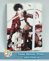 Скетчбук з обкладинкою з Еко Шкіри «Shingeki no Kyojin» tape 01