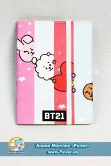 Скетчбук с обложкой из Эко Кожи «BTS» tape 02
