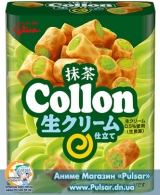 Вафельные мини-трубочки Collon от компании Glico  - Matcha  (Зеленый чай)