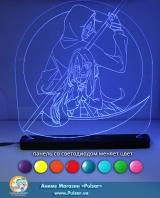 Великий діодний акриловий світильник «Ангел кровопролития / Satsuriku no Tenshi»