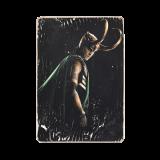Деревянный постер «Loki in helmet»