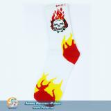 Дизайнерские носки Skull on Fire