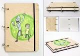 Скетчбук ( sketchbook) Rick and Morty tape 1