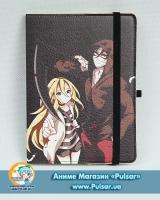 Скетчбук с обложкой из Эко Кожи «Ангел кровопролития / Satsuriku no Tenshi» tape 02